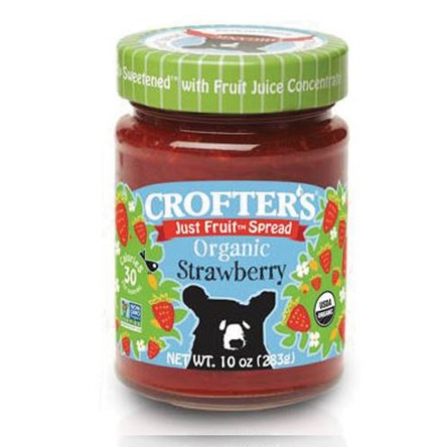 Crofter's Organic - Just Fruit Spreads - Strawberry Jam - 크로프터 오가닉 스트로베리/ 딸기잼 10 oz (283 g)