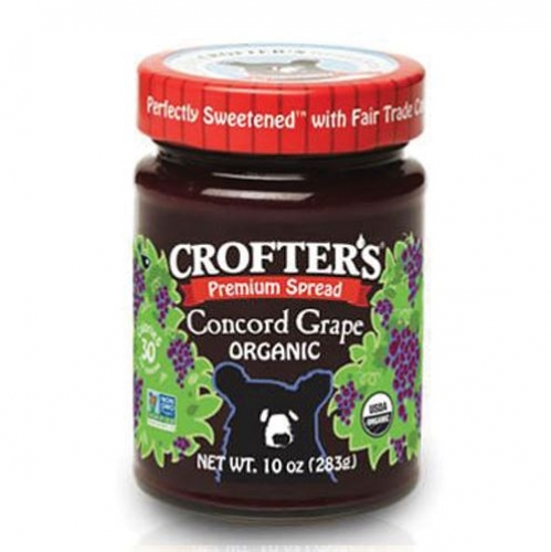 Crofter's Organic - Premium Spreads - Concord Grape - 크로프터 오가닉 포도잼 10 oz (283 g)