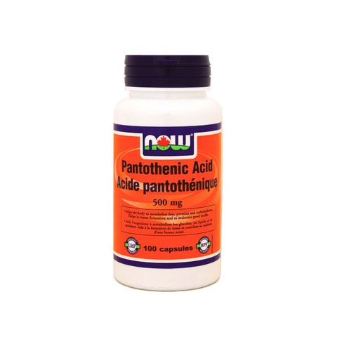 Now Foods 나우 푸드 - Pantothenic Acid (Vitamin B5) 500mg 100C 판토텐산 (비타민 B5) 100 캡슐