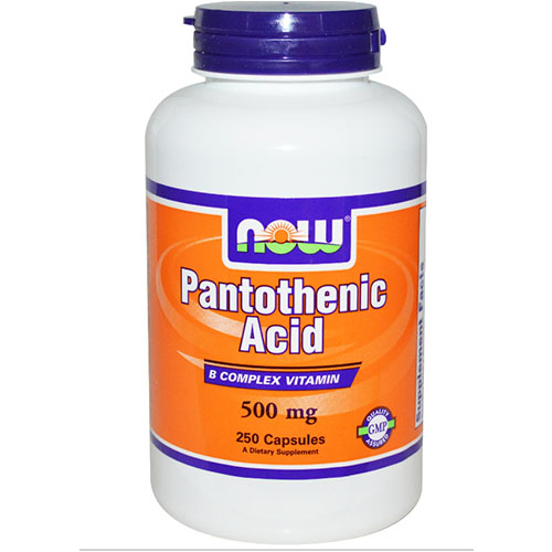 Now Foods 나우 푸드 - Pantothenic Acid (Vitamin B5) 500mg 250C 판토텐산 (비타민 B5) 250 캡슐