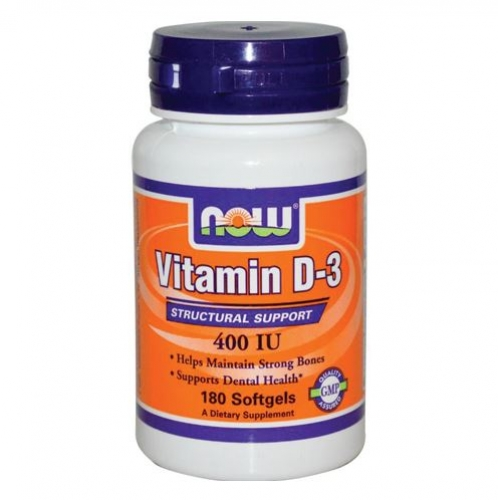 Now Foods - Vitamin D3 400IU 180gels  - 나우 푸드 -비타민 D3 400IU -180젤