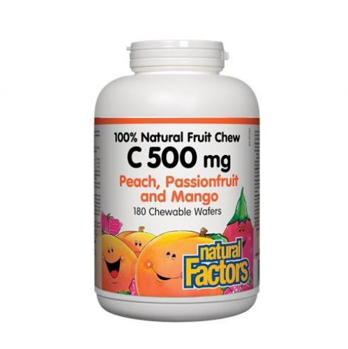 Natural Factors 내추럴 팩터스 - Vitamin C Natural Fruit - Passionfruit/Mango (비타민C - 열대/망고 ) 500mg - 사이즈선택