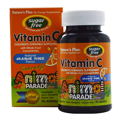 Nature's Plus Animal Parade Sugar Free Vitamin C Chews 90CT