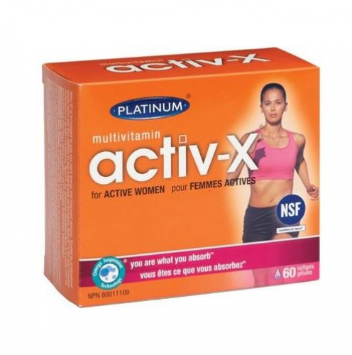 Platinum Naturals - Multivitamin Activ-X for Active Women 60sgels