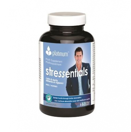 Platinum Naturals - MultiVitamin Stressentials for Men 60 gels