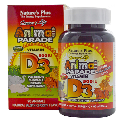 Nature's Plus Animal Parade Vitamin D3 500IU Chews 90CT