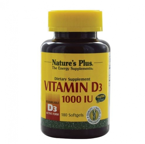 Nature's Plus - Vitamin D 1000 IU  180softgel