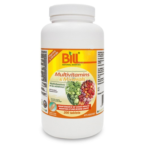 Bill Multivitamins & Minerals 200T
