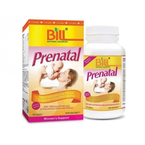 Bill - Prenatal Natural Multivitamins Plus Folic Acid 90 caplets