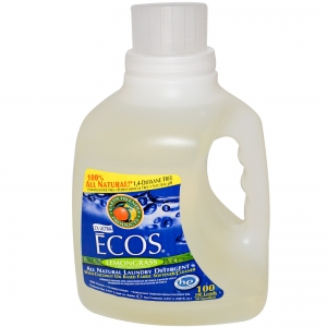 Earth Friendly Products - ECOS 2x Liquid Laundry Detergent With Built In Softener, Lemongrass, 100 Loads, 100-Ounce Bottlel(액상세제)