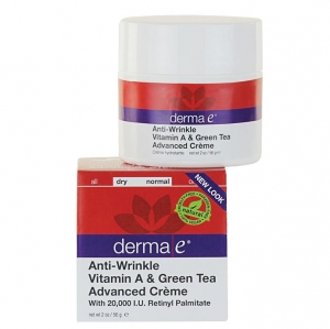 Derma E - Anti-Wrinkle Vitamin A & Green Tea Advanced Cr?me- 안티윙클 비타민 A& 그린 티 크림 2 oz (56 g)