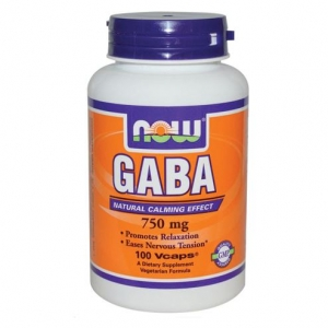 Now Foods - GABA Extra Strength 750mg - 100vcap
