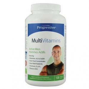 Progressive - Multiple Vitamins&Minerals For Active Men 120caps