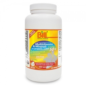 Bill 50+ Multivitamins & Minerals with Lycopene and Lutein 50+ 200T