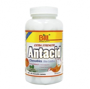 Bill - Extra Strength Antacid 120 tablets  - [빌] - 강한 제산제 -120정