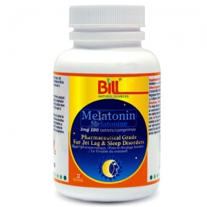 Bill 빌 Melatonin  Pharmaceutical Grade 멜라토닌 3mg 100T