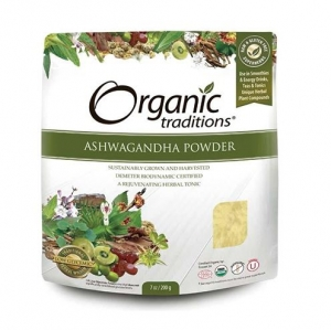 Organic Traditions - ASHWAGANDHA ROOT POWDER - 올가닉 트레디션 - 인도인삼 가루 - 200g