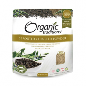 Organic Traditions - SPROUTED CHIA SEED POWDER - 올가닉 트레디션 - 발아 치아씨드 가루