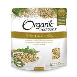 Organic Traditions - SPROUTED QUINOA  - 올가닉 트레디션 - 발아 퀴노아 -340g
