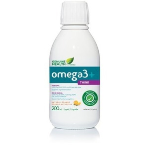 Genuine Health Omega3+ Think Liquid Natural Orange  200 mL
