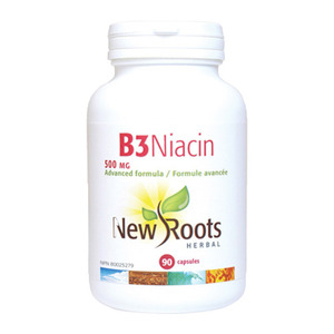 NEW ROOTS - Vitamin B3 Niacin 500 mg - 90 Caps(90정)