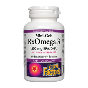 Natural Factors - MINI-GELS RXOMEGA-3 500 MG EPA/DHA - 60SOFTGELS