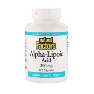 Natural Factors 네츄럴 팩터스 - Alpha-Lipoic Acid 알파 리포산 200mg 120caps